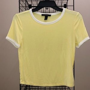 Yellow Forever 21 Shirt with White Accents